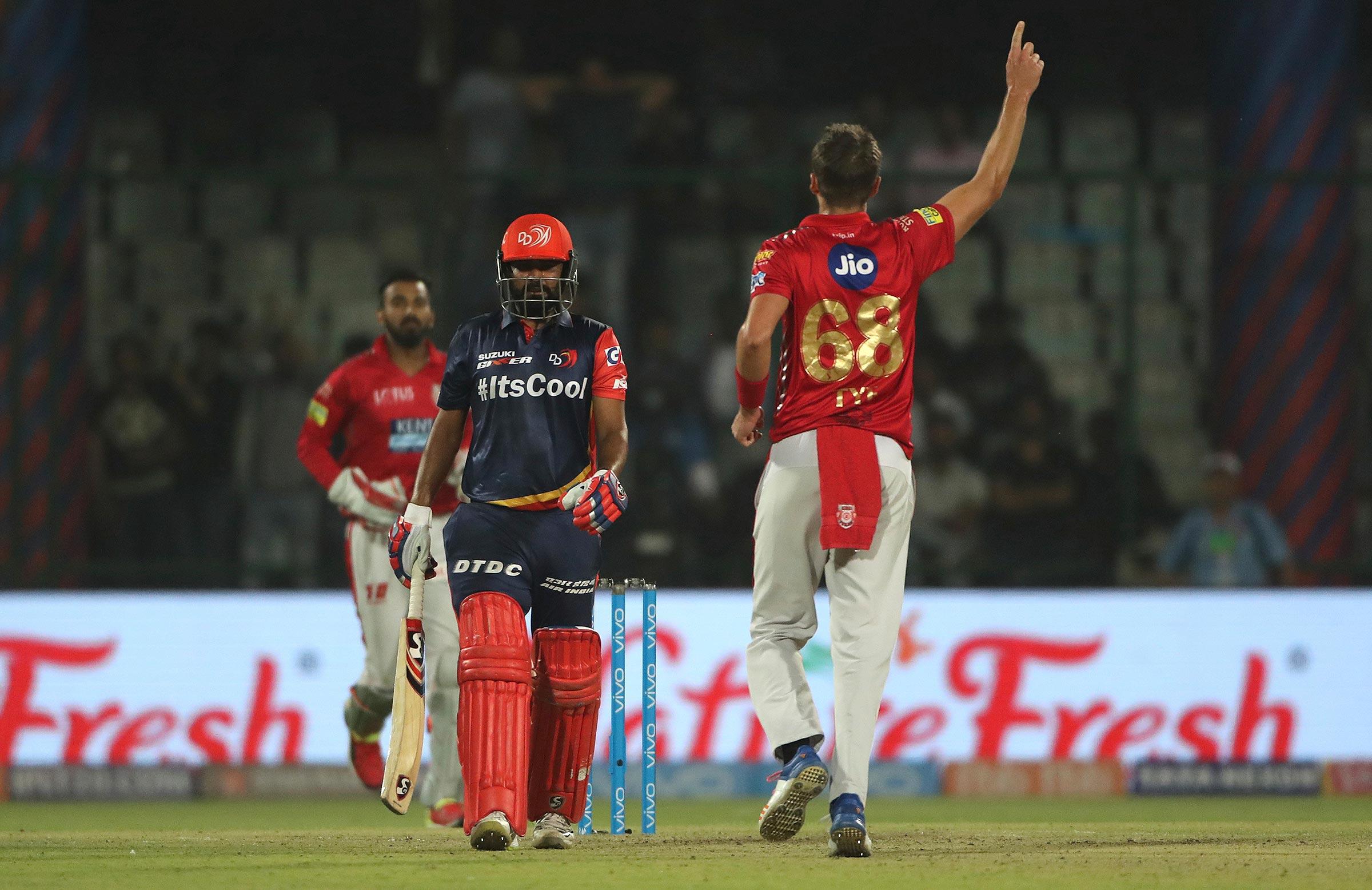 Australian AJ Tye celebrates a wicket in the IPL // AAP