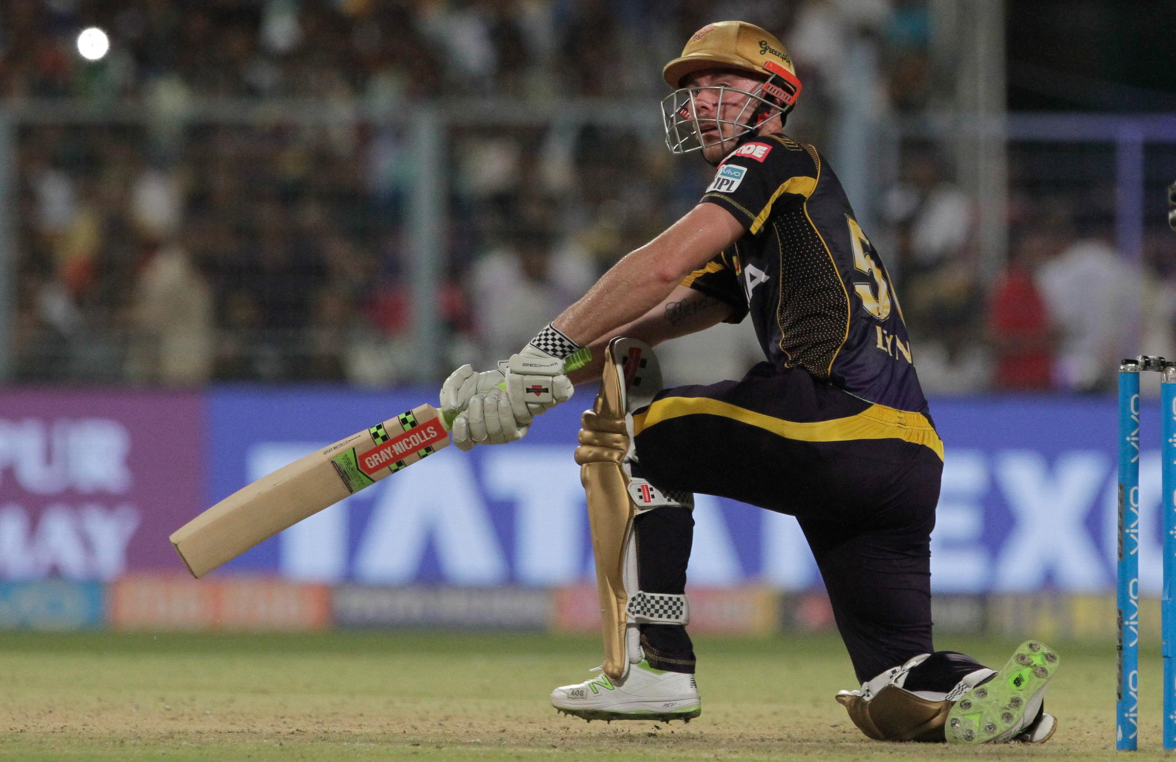 Chris Lynn is back at the Knight Riders this season // AAP