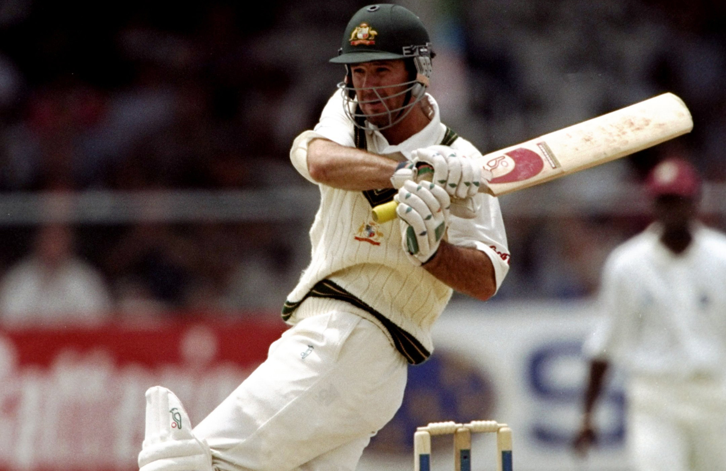 A young Ponting relished the battle with Ambrose and Walsh // Getty
