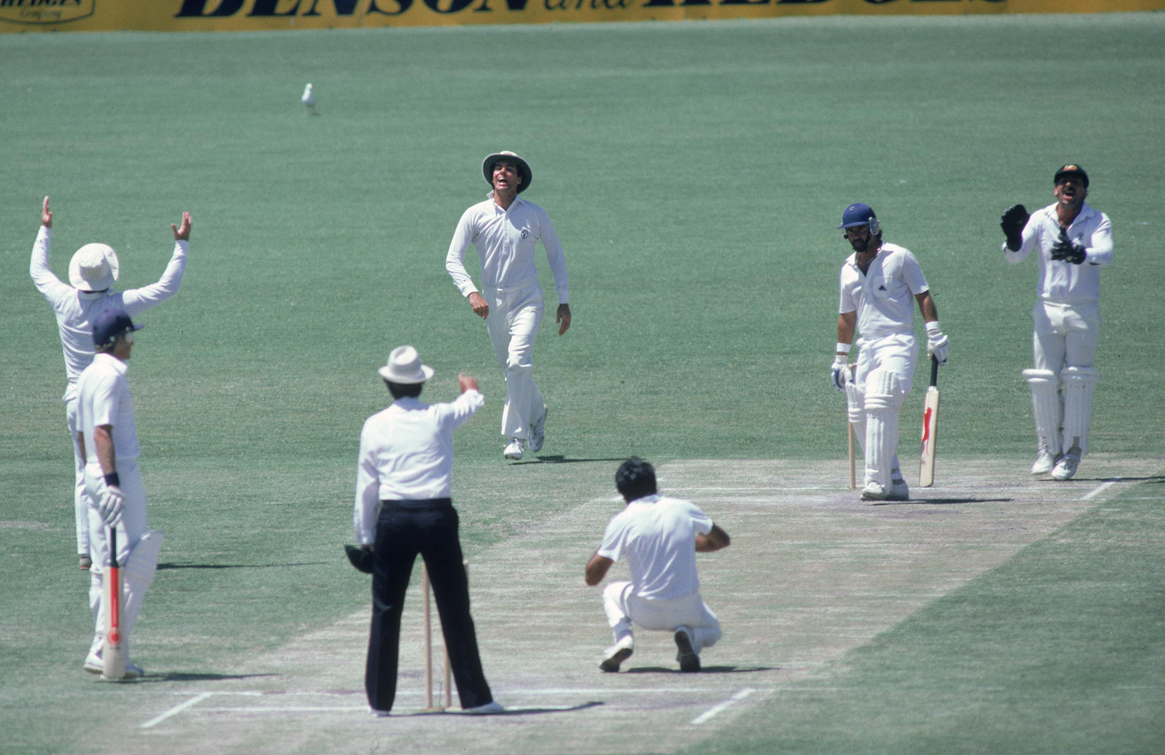 Greg Chappell takes a catch of Yardley's bowling in 1982 // Getty