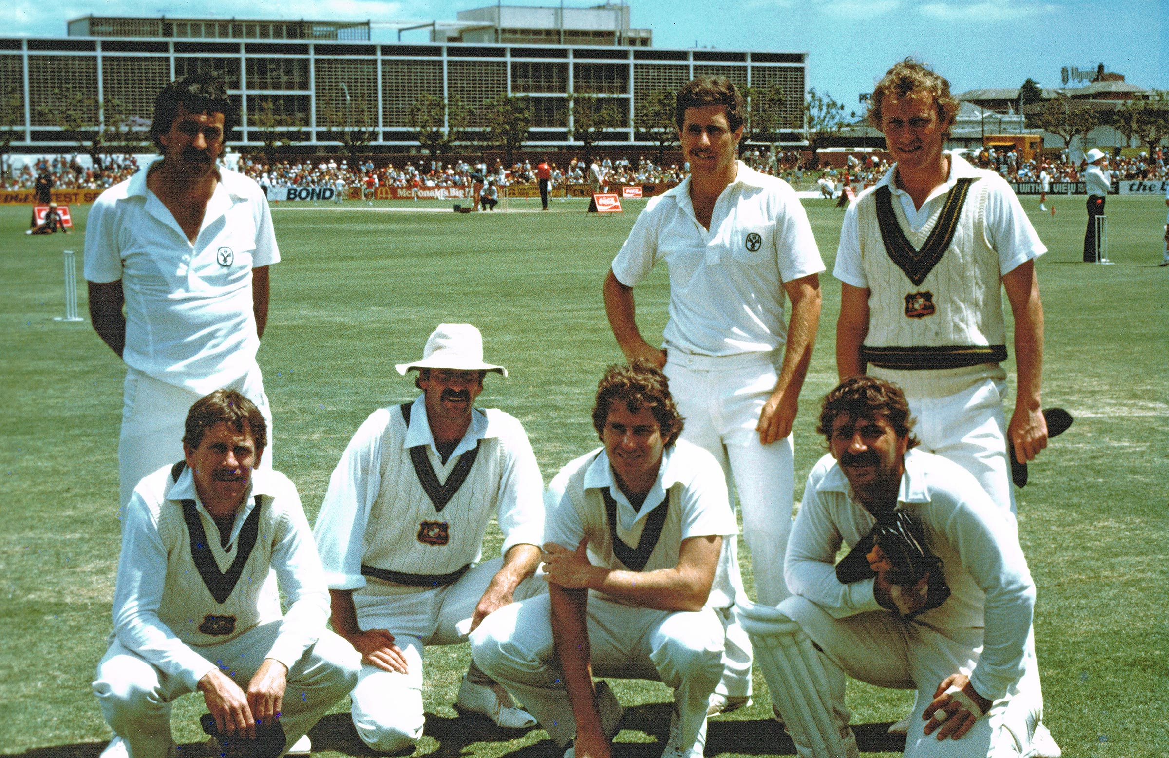 Yardley (top left) and WA's Test players in 1981