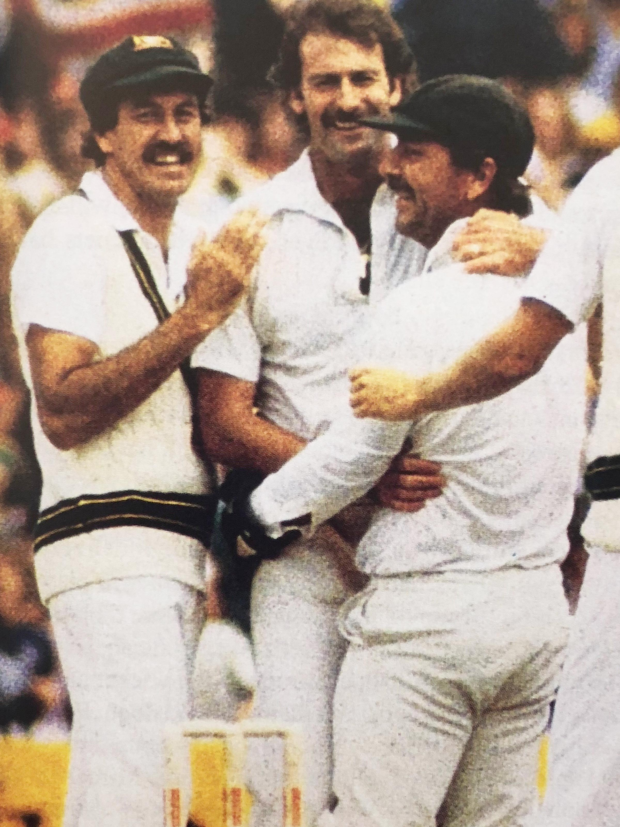 Yardley with Dennis Lillee and Rod Marsh // Courtesy Yardley Family