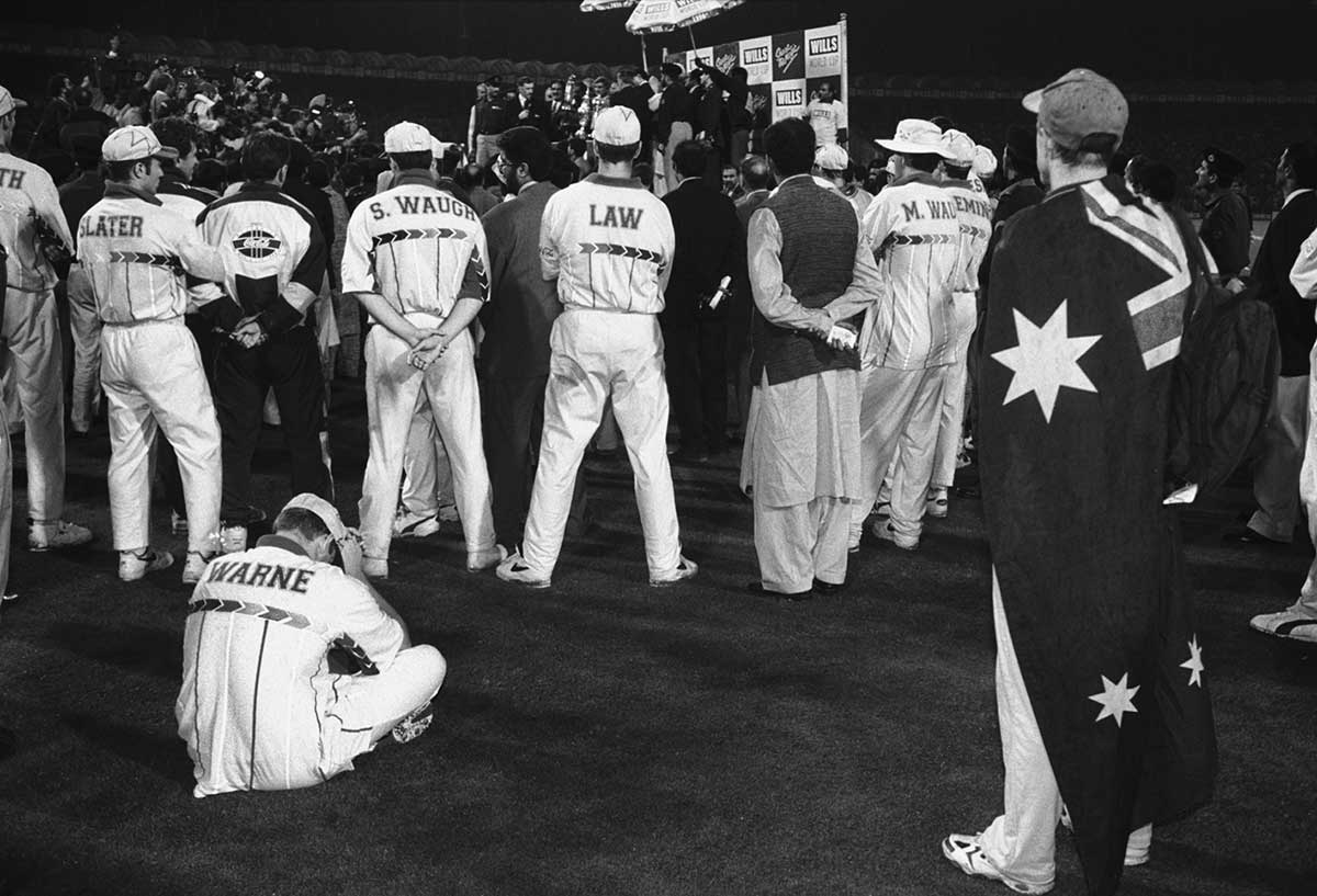 Warne sits dejected after defeat in the '96 Cup final // Trent Parke / Magnum Photos