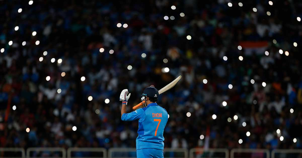 MS Dhoni got a hero's welcome in his hometown // Getty