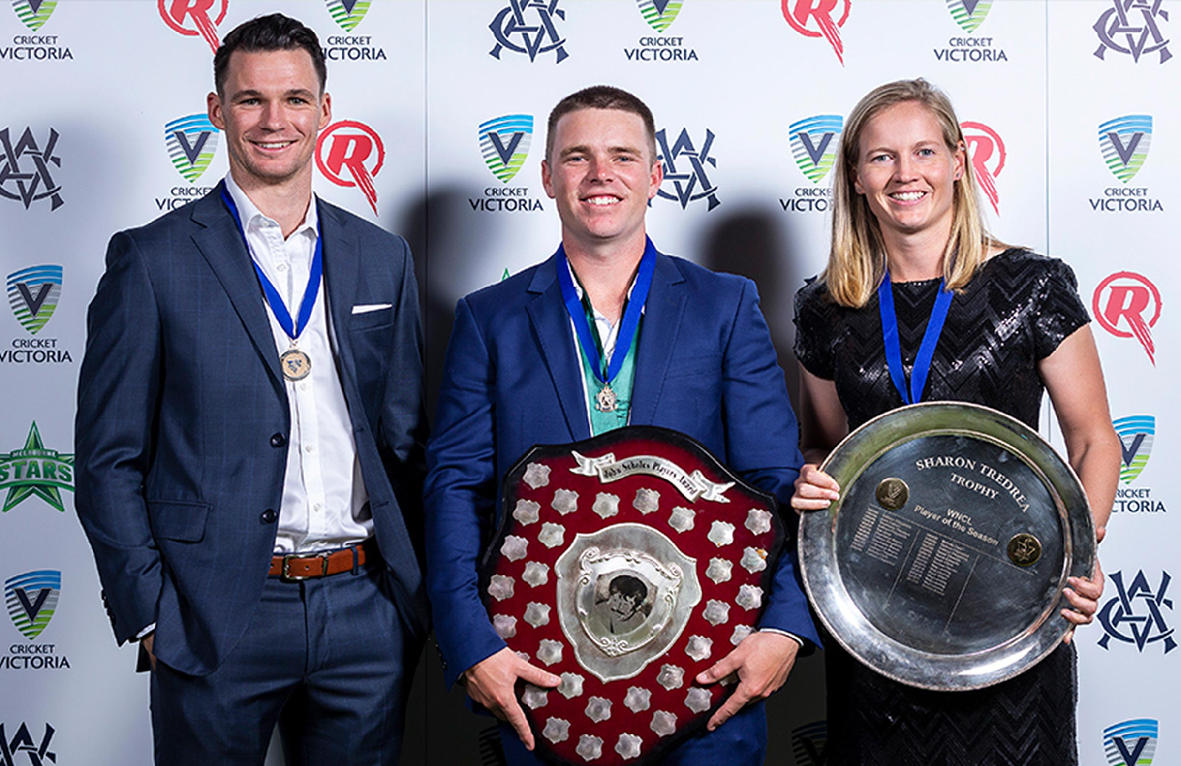 Handscomb, Harris and Lanning at the Victoria awards night