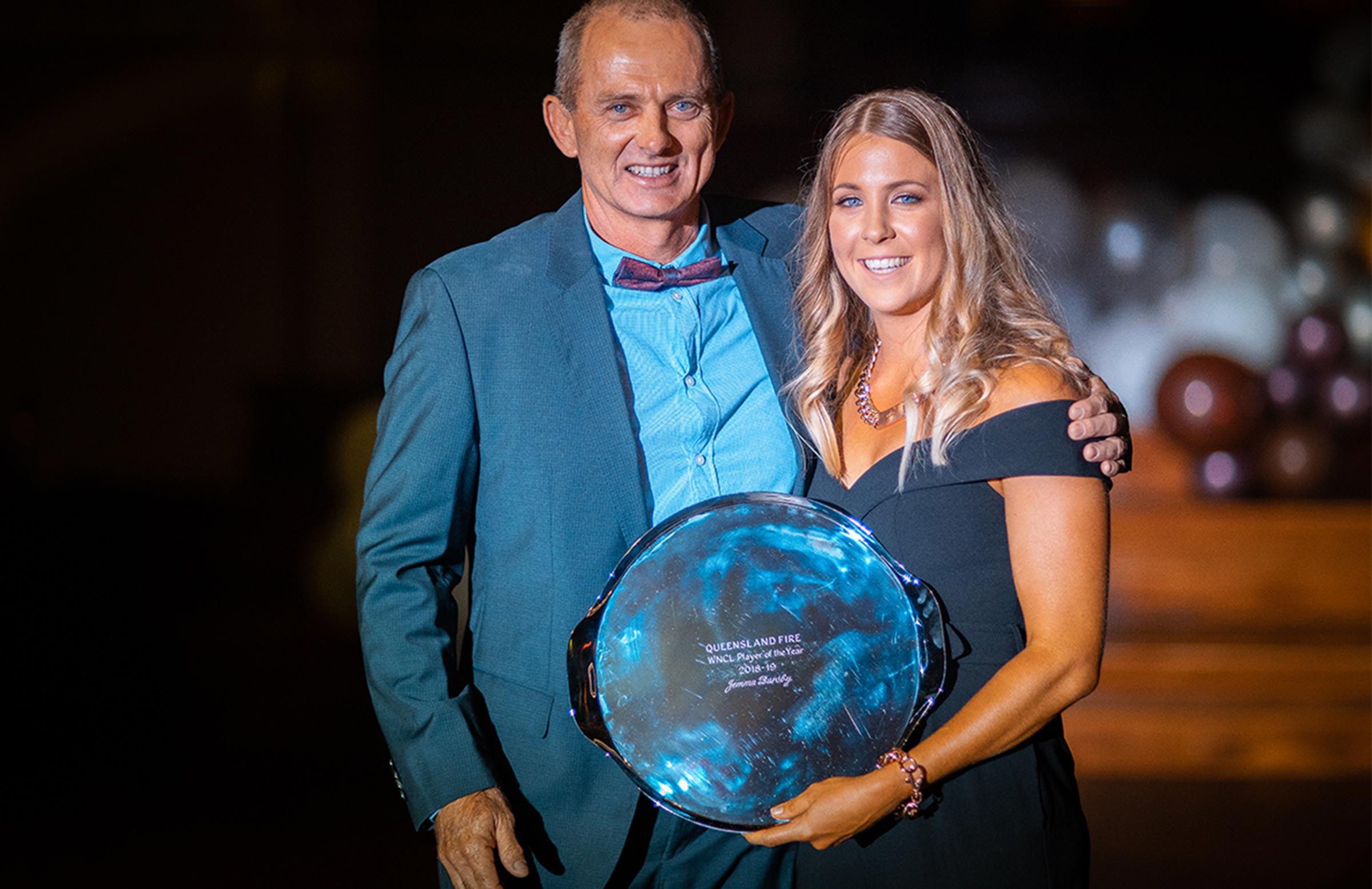Queensland Fire MVP Jemma Barsby