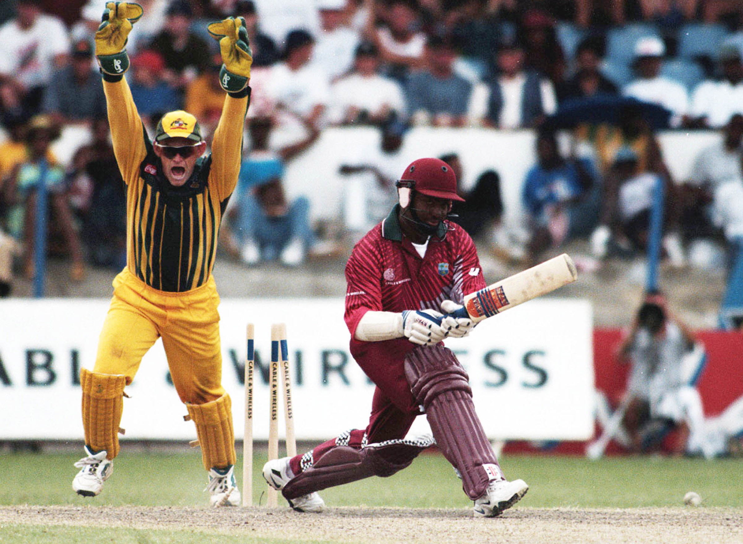 As ever, the wicket of Brian Lara was a massive one // AAP