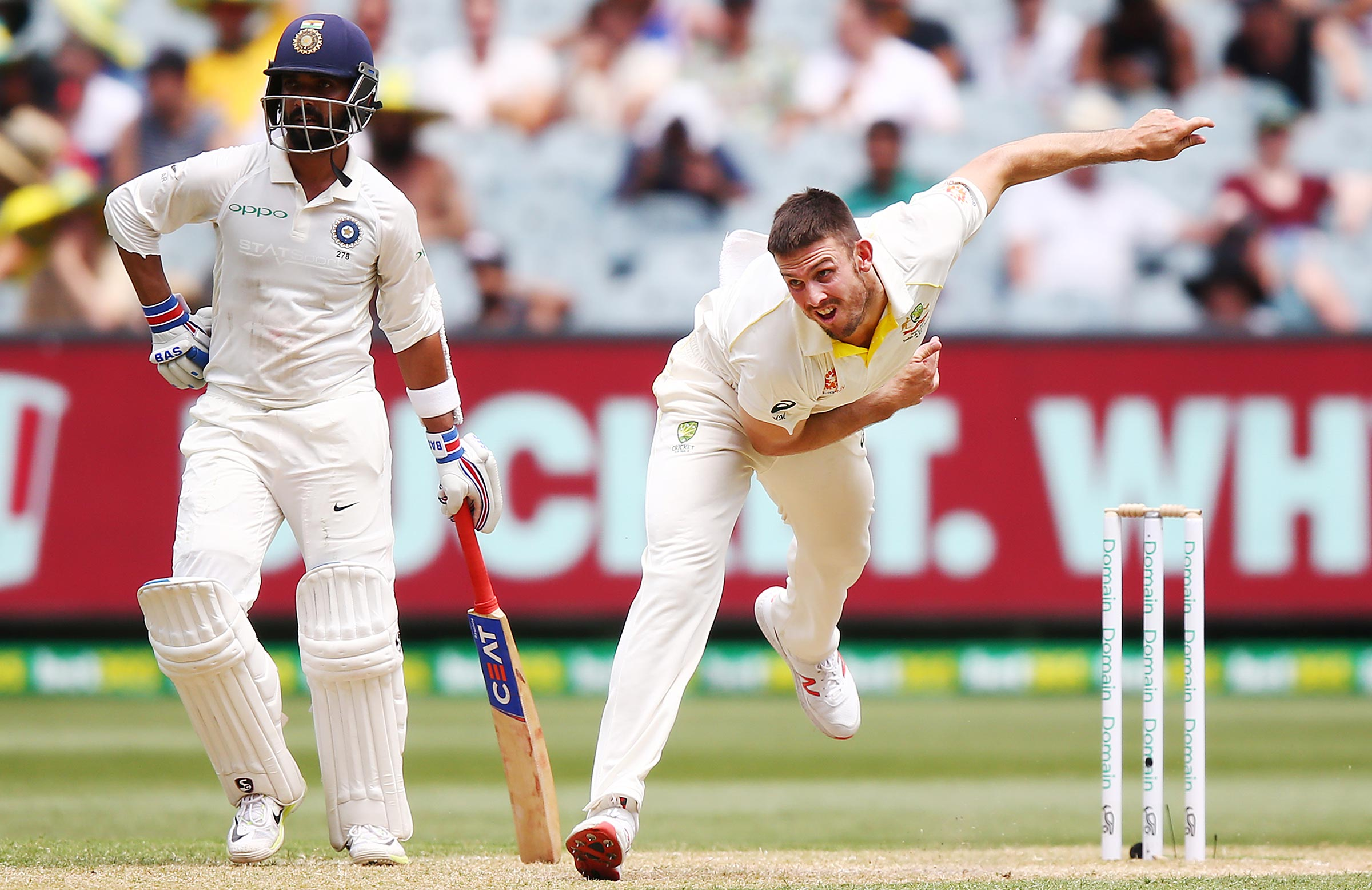 Marsh bowled 26 overs in the Boxing Day Test last year // Getty