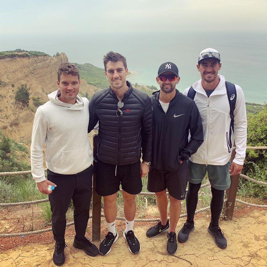 Carey, Cummins, Lyon and Starc at Gallipoli // Instagram