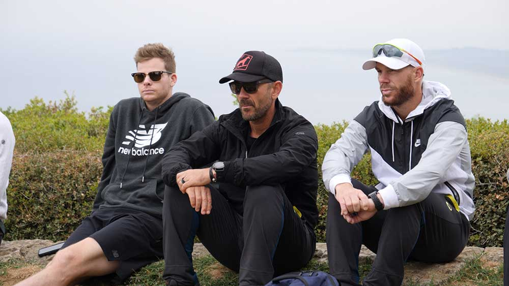 Smith, Langer and Warner listen to ANZAC stories // Andre Mauger