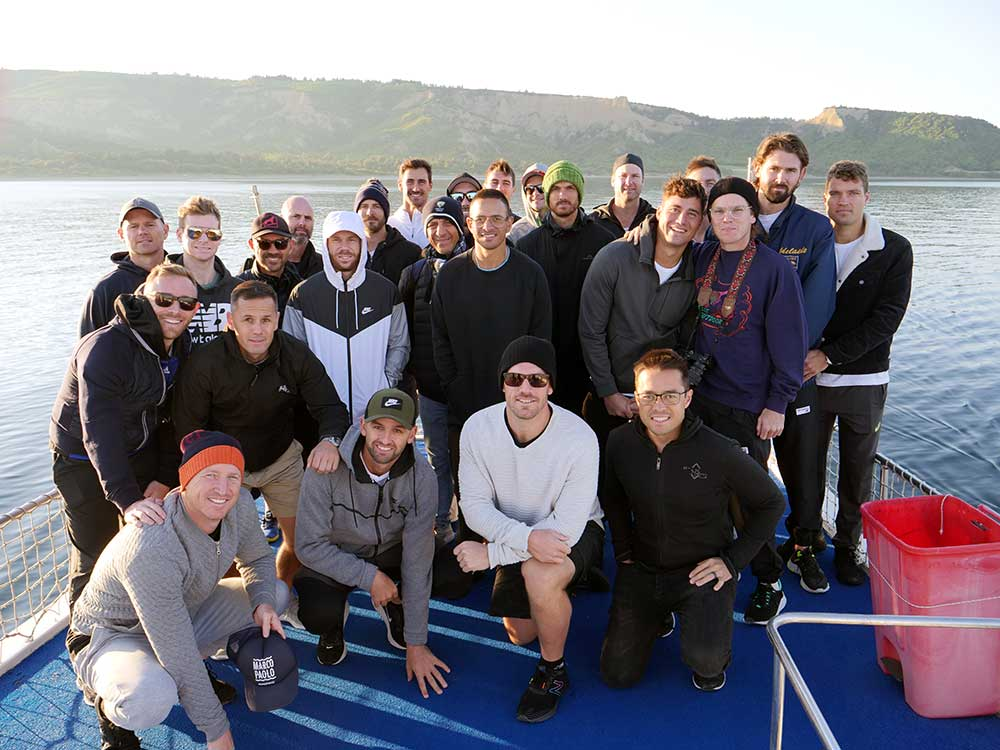 The team's visit include a dawn boat tour of Gallipoli // Andre Mauger