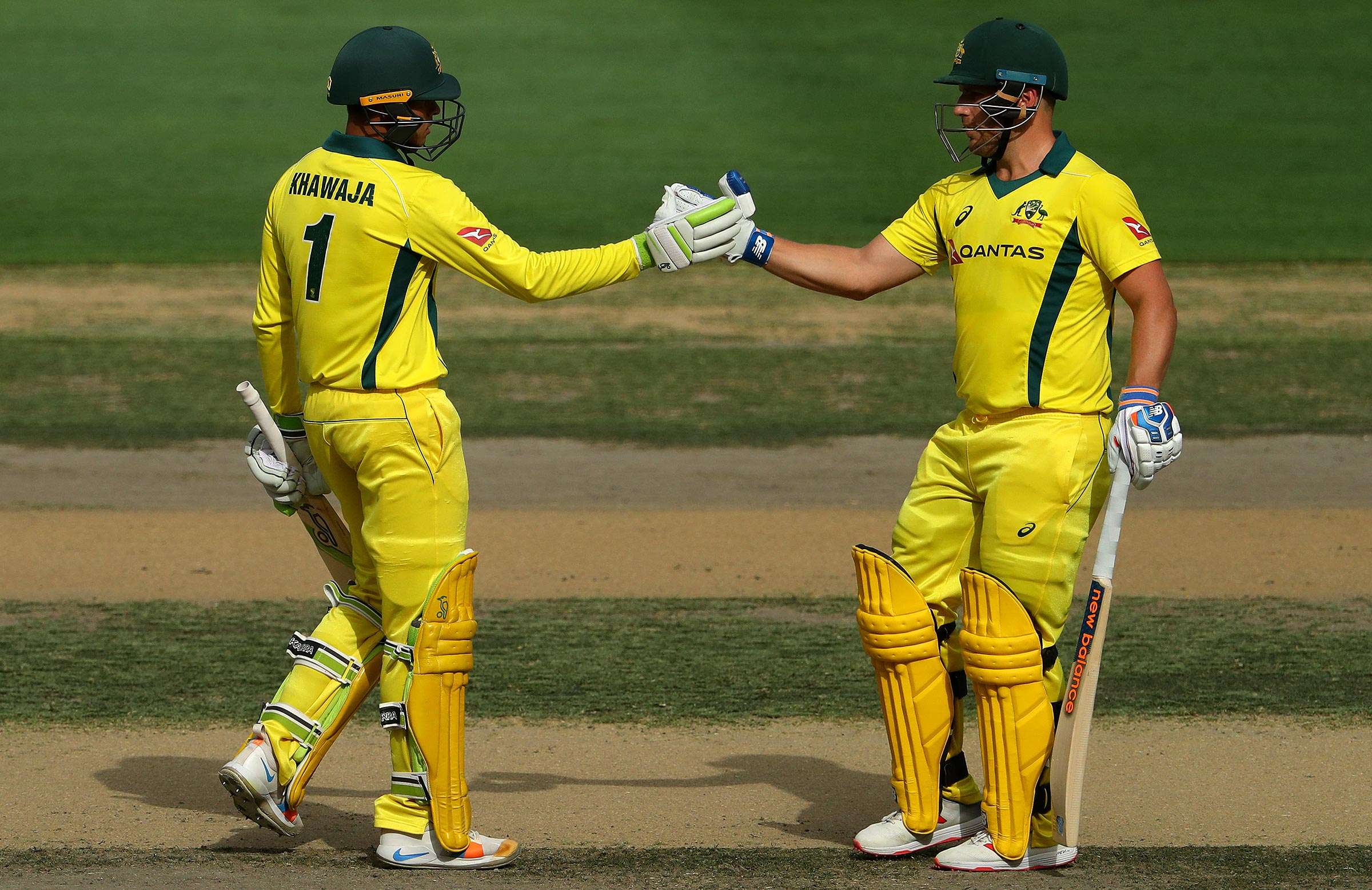 Khawaja and Finch have formed a close bond // Getty