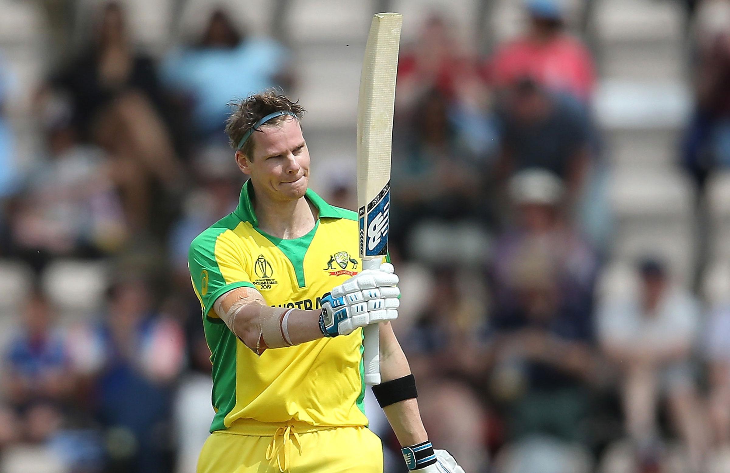 Smith salutes his ton v England // Getty