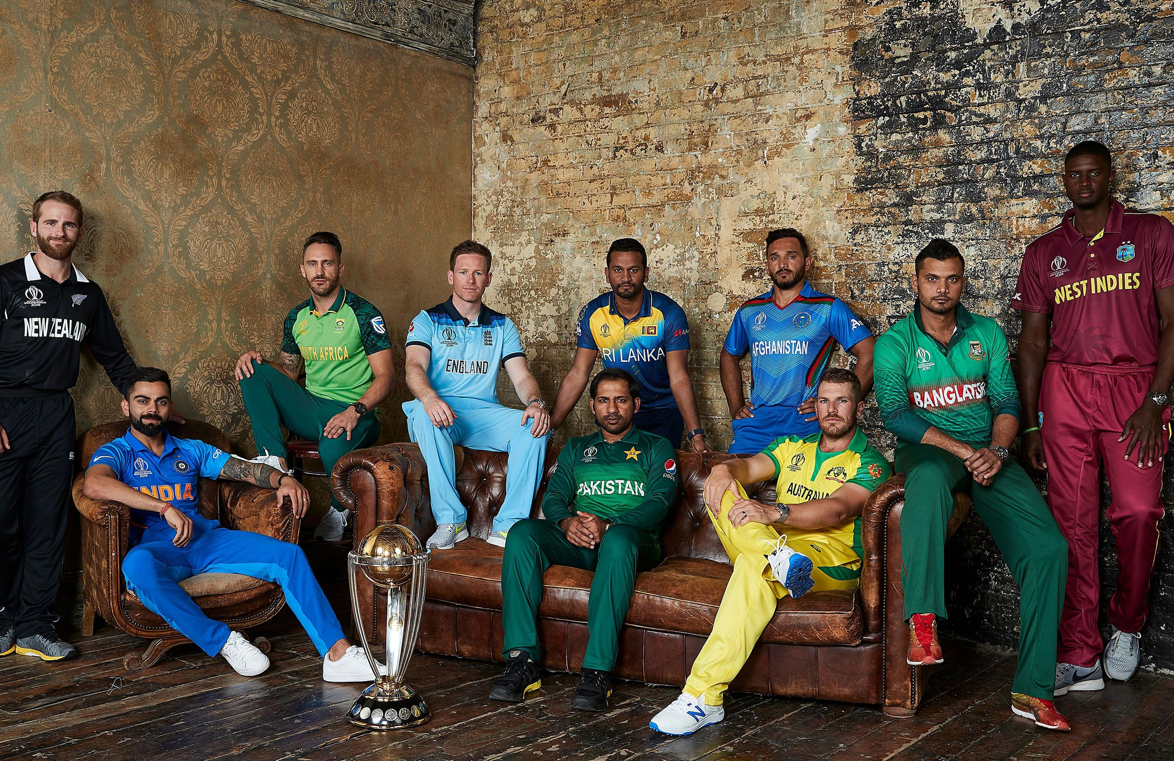 The 10 World Cup captains // Getty