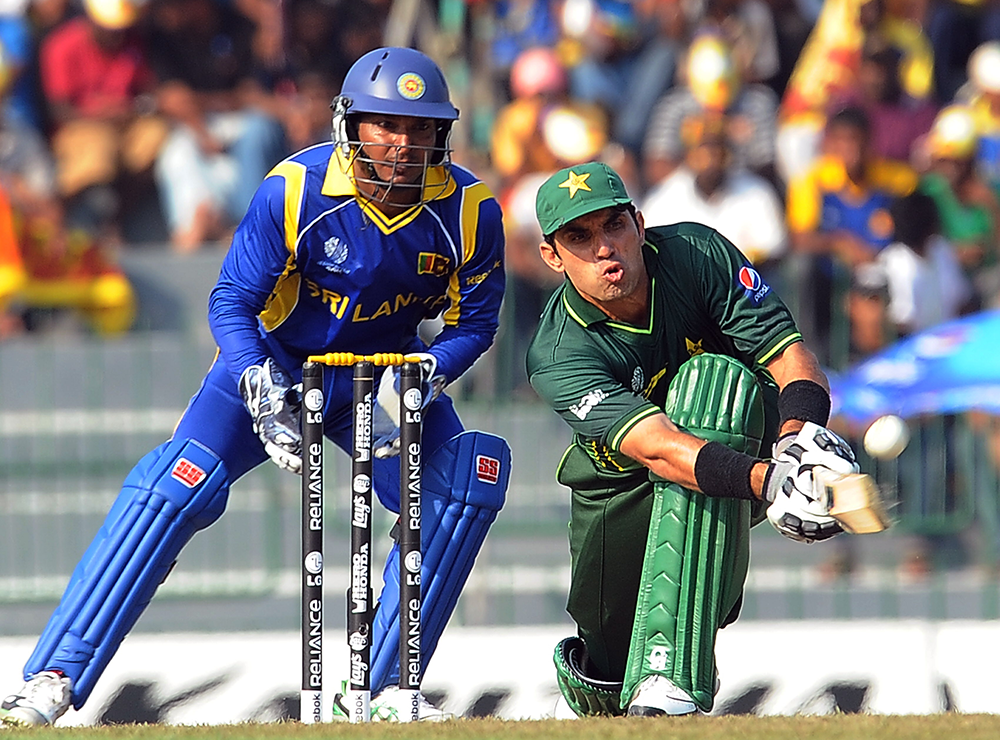 Pakistan's unbeaten record against Sri Lanka at the World Cup included this win in 2011 // Getty