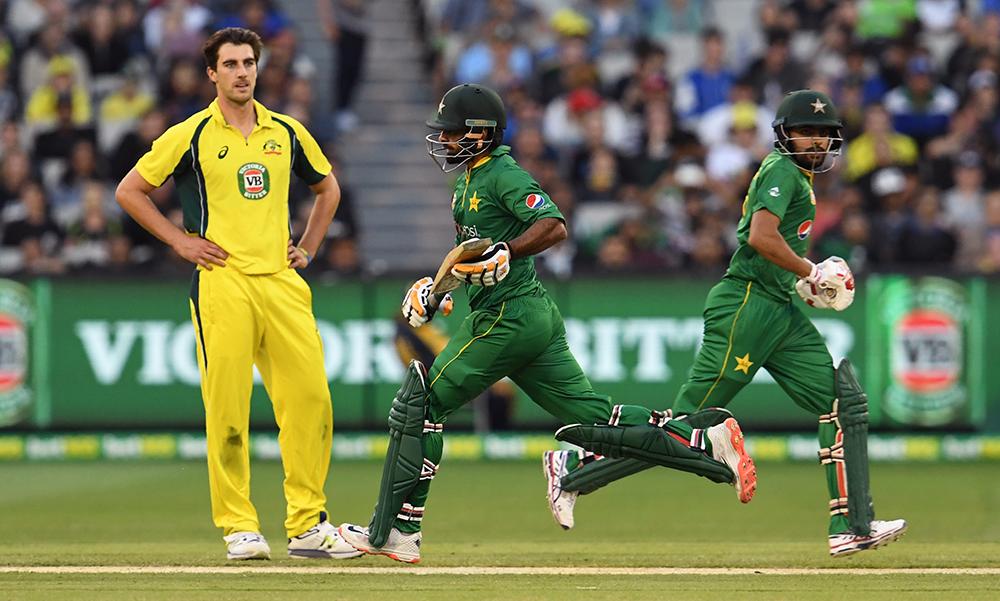 Pakistan enjoy a rare win over Australia at the MCG in 2017 // Getty
