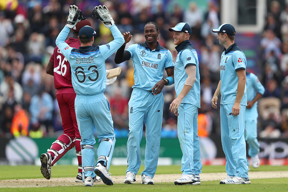 Jofra Archer took three late wickets against the West Indies // Getty