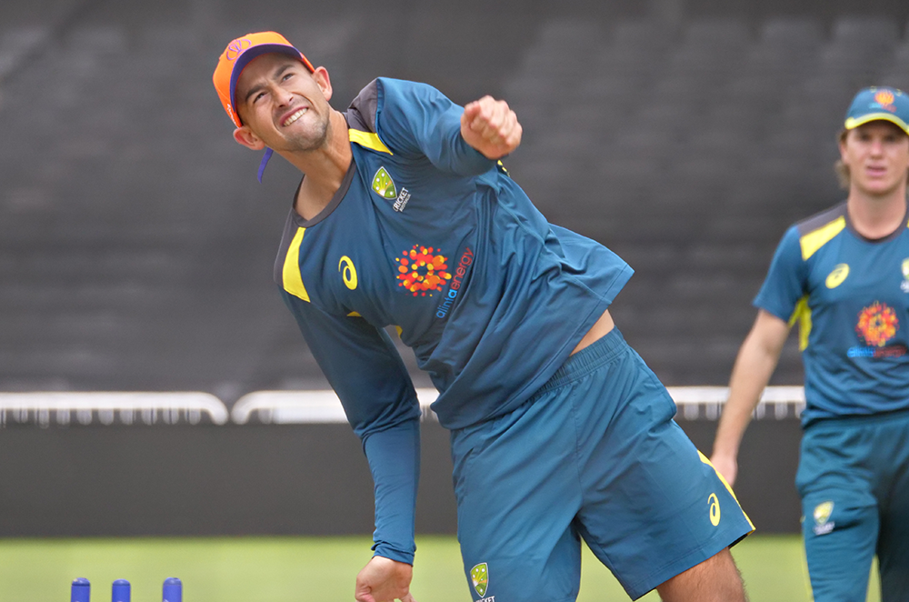 Agar brought another spin option to Australia's training session // Cricket Network