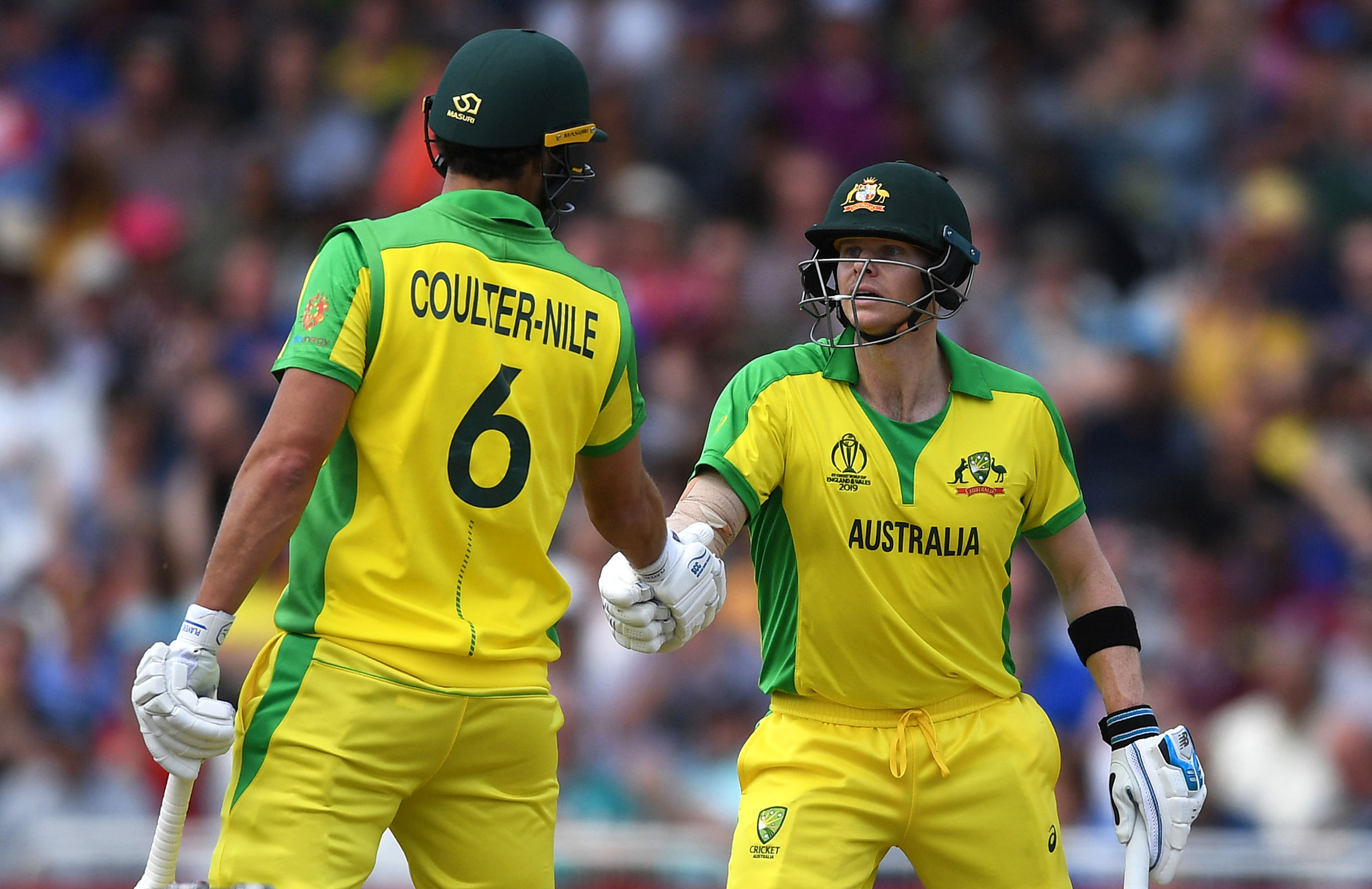Nathan Coulter-Nile and Steve Smith resurrected the Australian innings // Getty