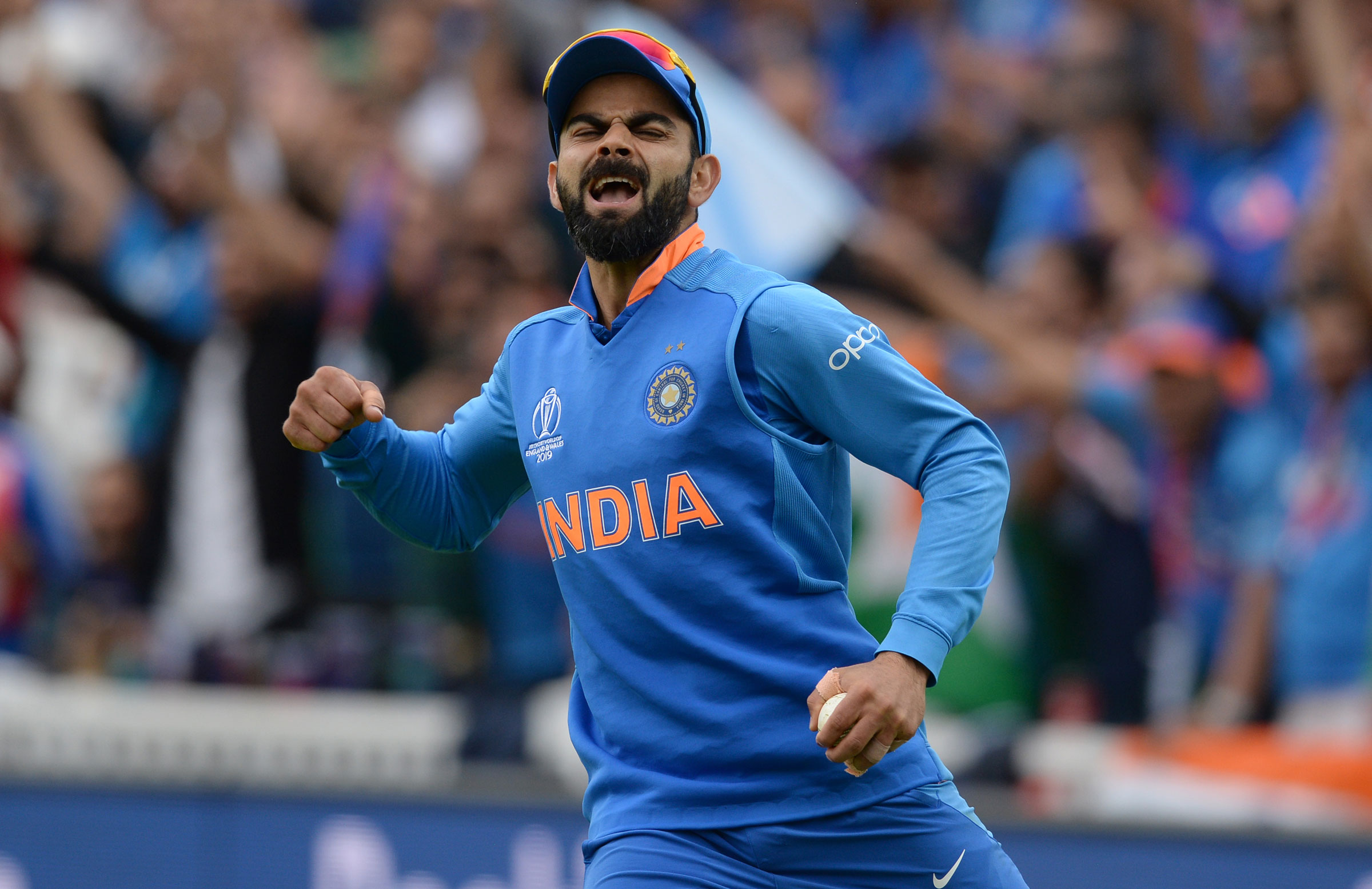 An ecstatic Virat Kohli // Getty