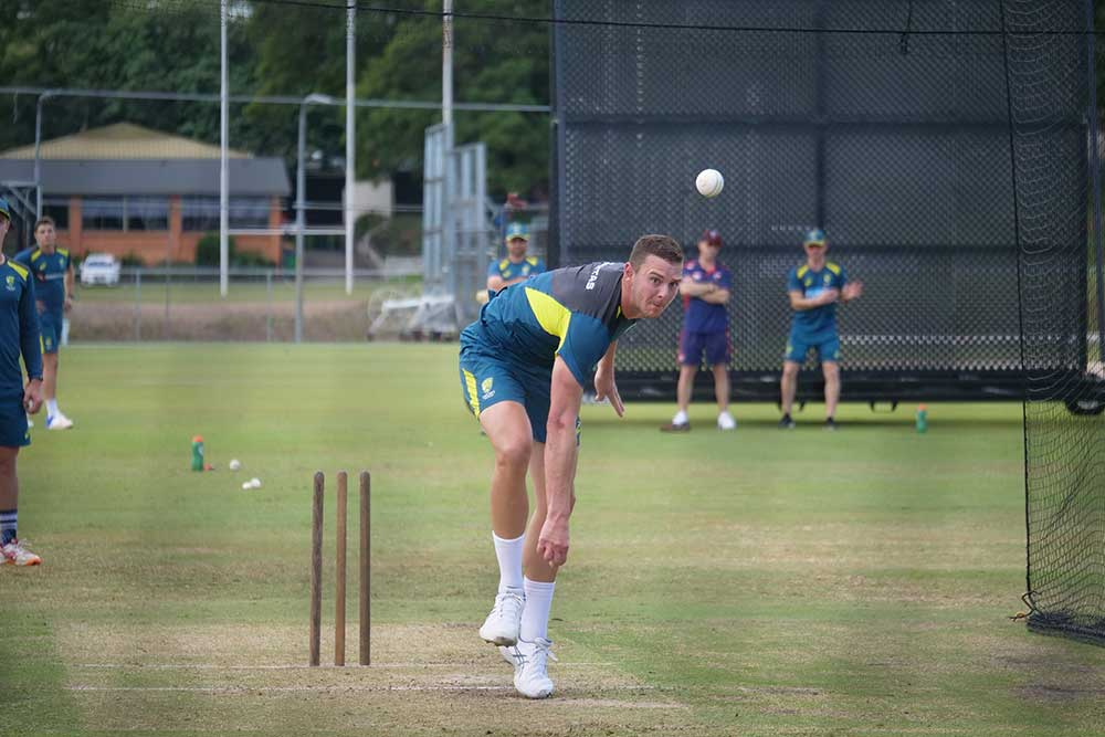 Hazlewood off the long run at the NCC // Cricket Network
