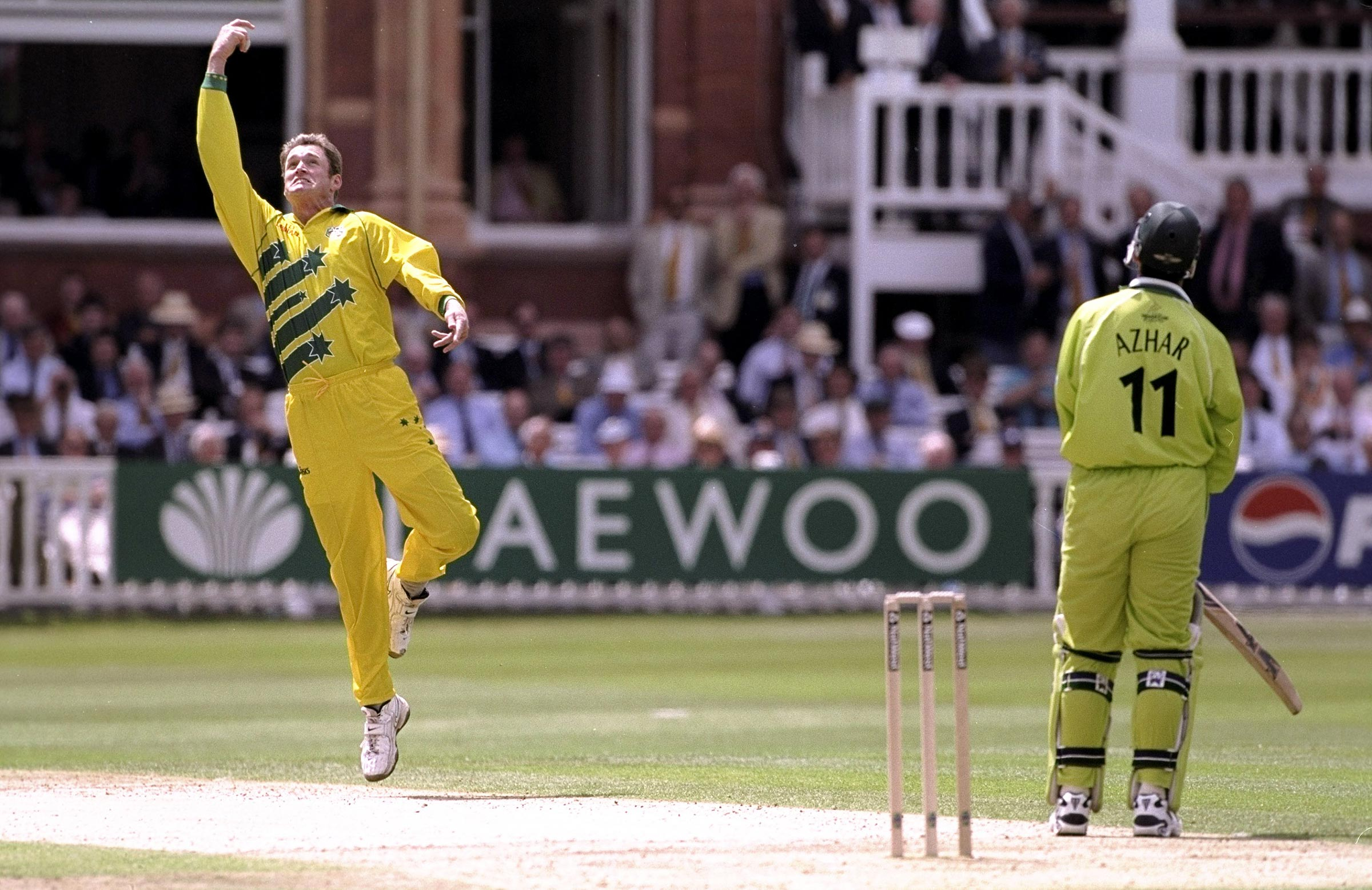 Tom Moody celebrates a catch at Lord's // Getty