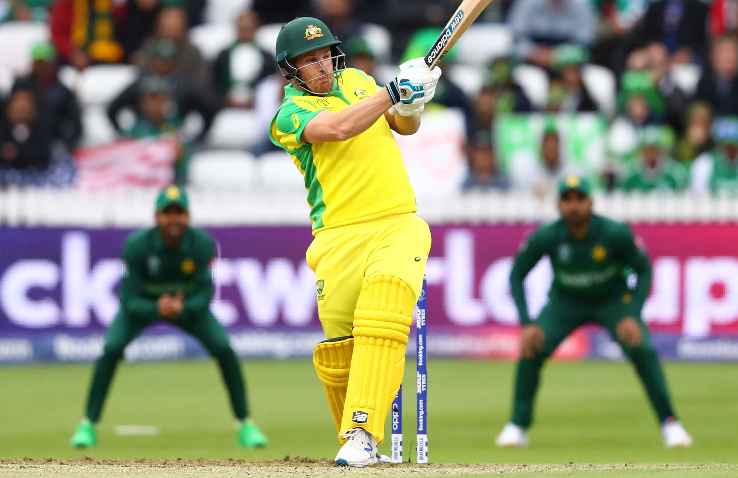 Aaron Finch scored 82 from 84 balls // Getty