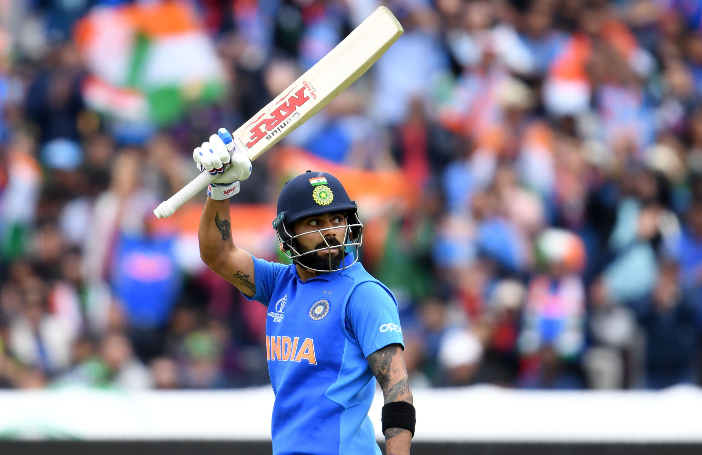 Virat Kohli set a new record for fastest to 11,000 ODI runs // Getty