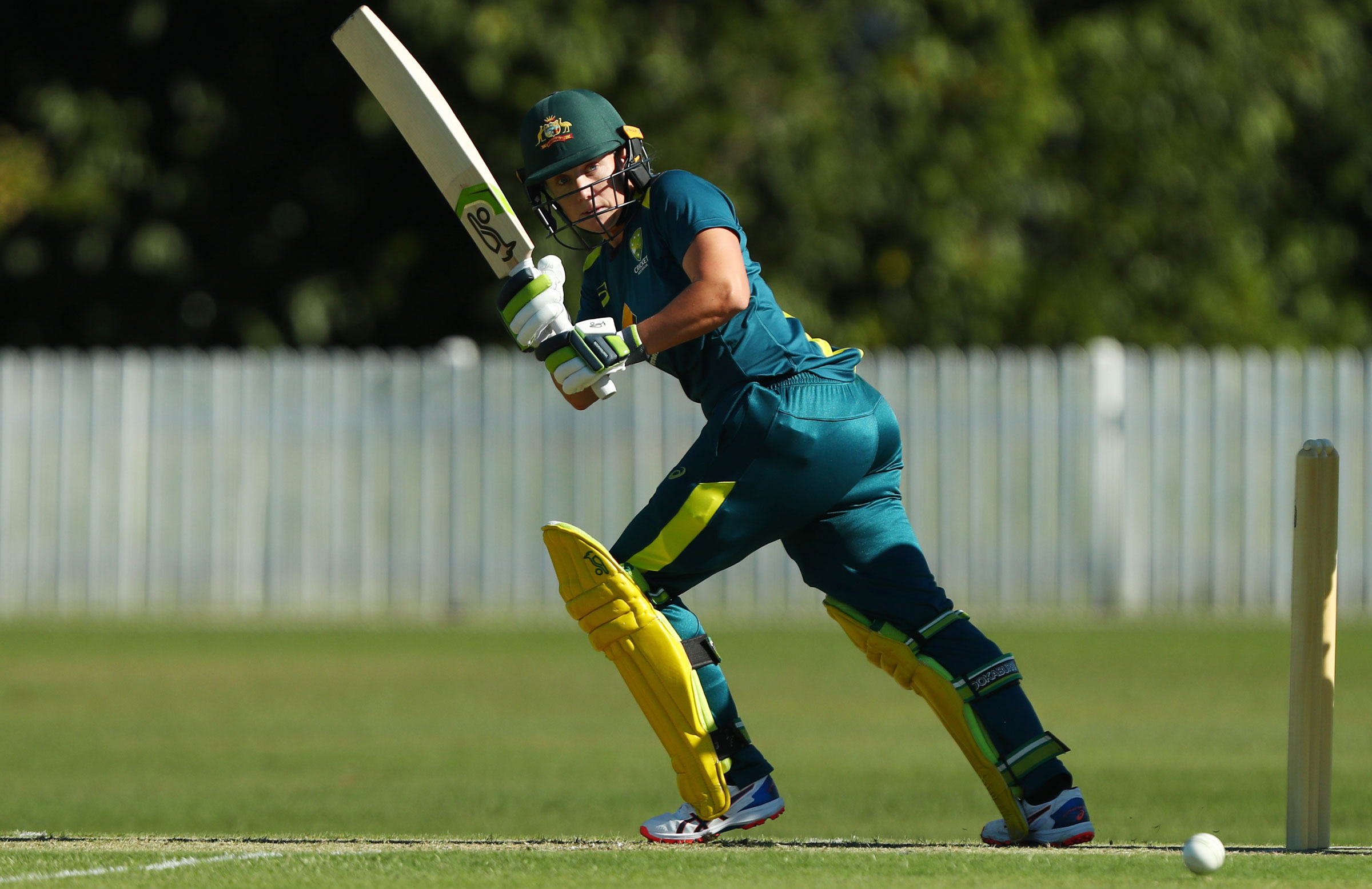 Alyssa Healy batted well for her 49 // Getty