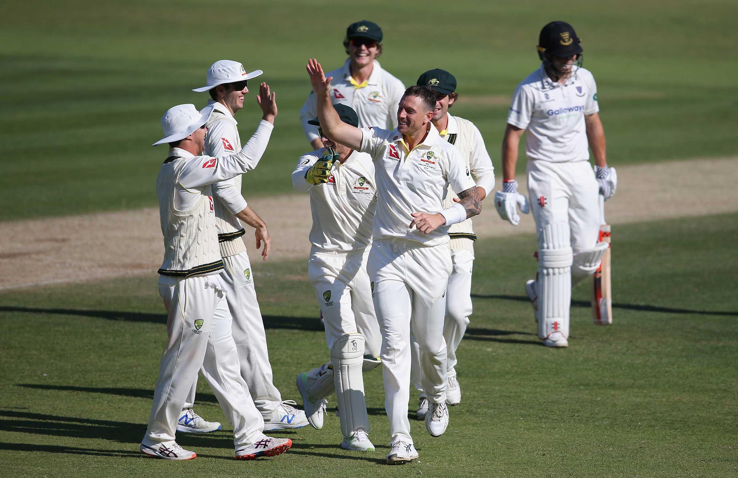 James Pattinson celebrates a wicket for Australia A // Getty