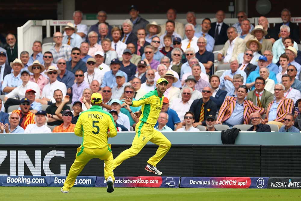 Maxwell makes a relay catch look easy // Getty