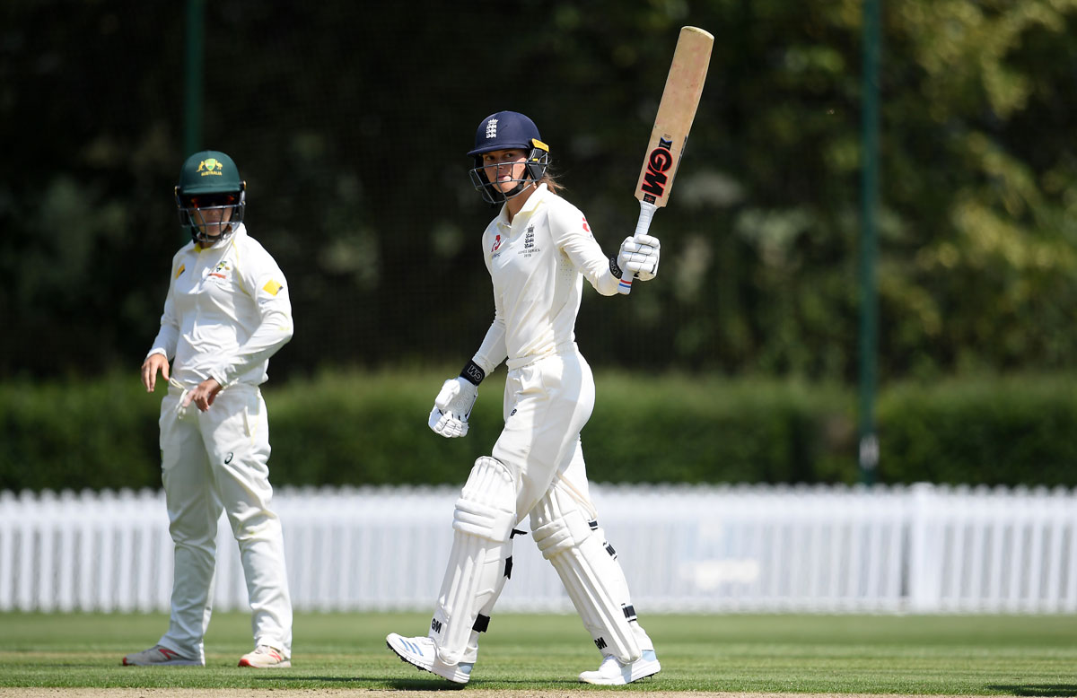 England opener Amy Jones hit a warm-up ton against Australia A // Getty