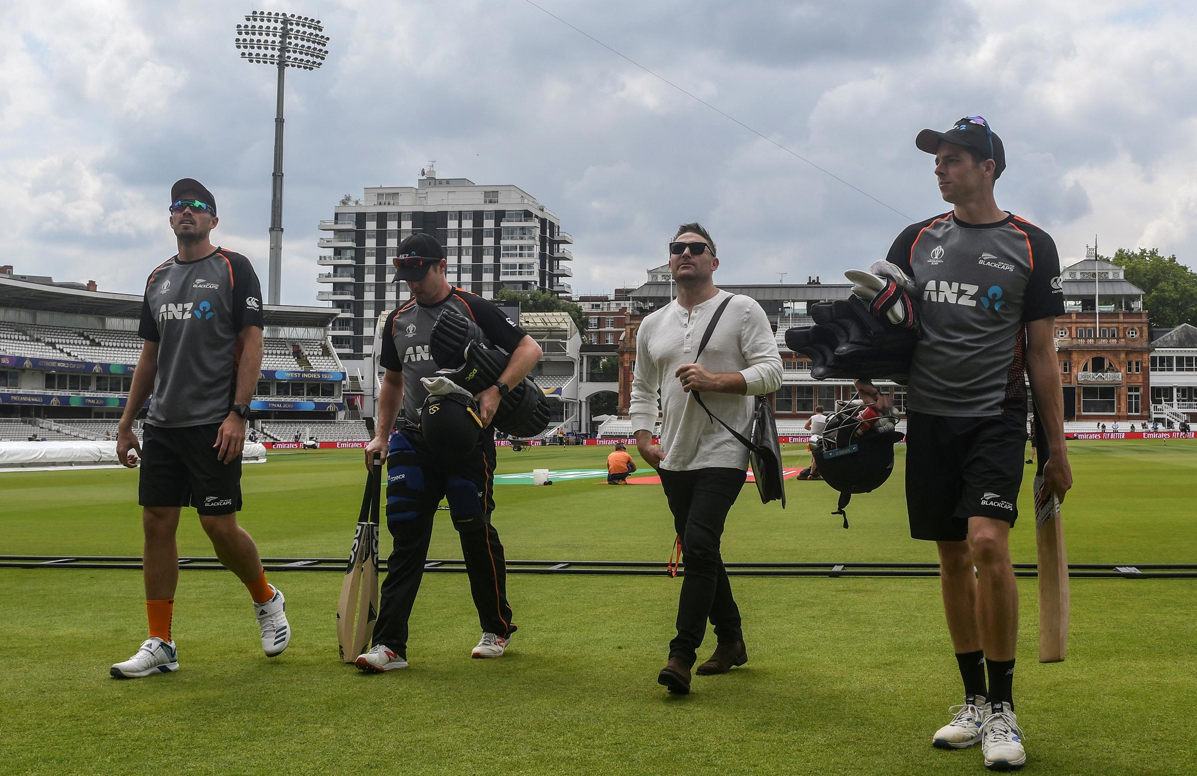 Baz and the Black Caps on match eve // Getty