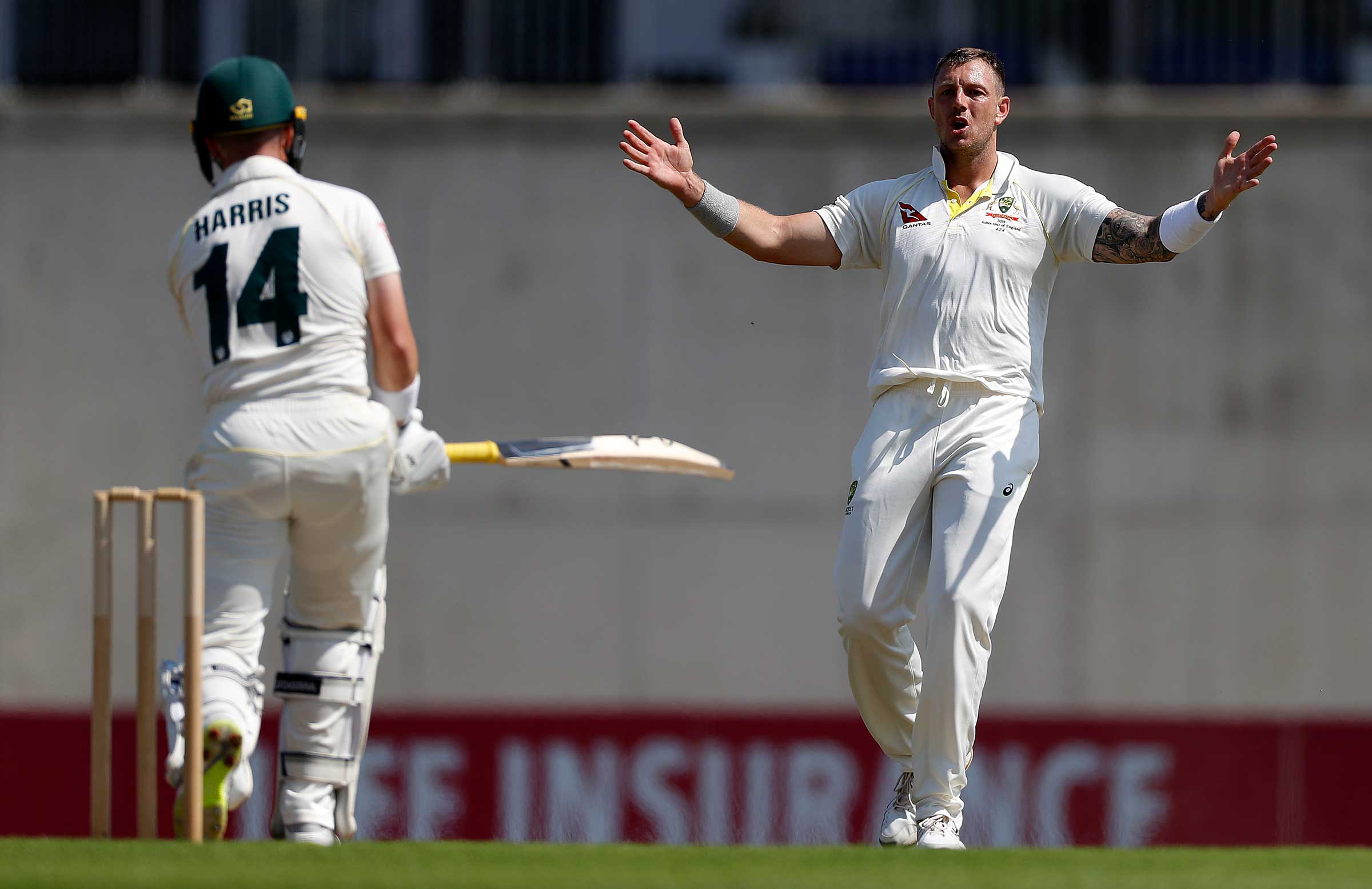James Pattinson bowled without luck early // Getty