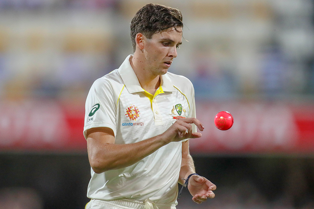 Richardson during his Test debut against Sri Lanka at the Gabba in January // Getty