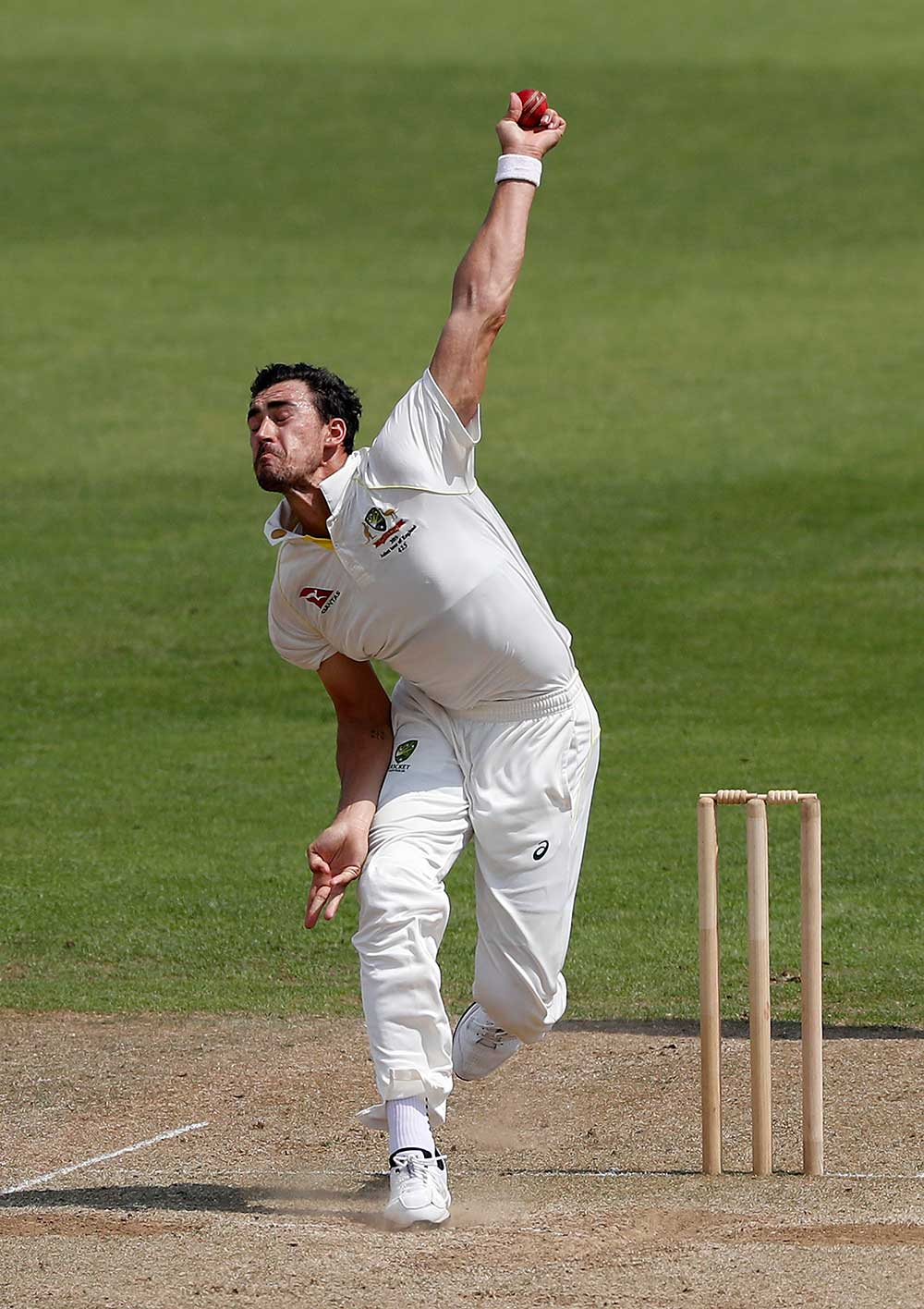 Mitchell Starc impressed with the old ball // Getty