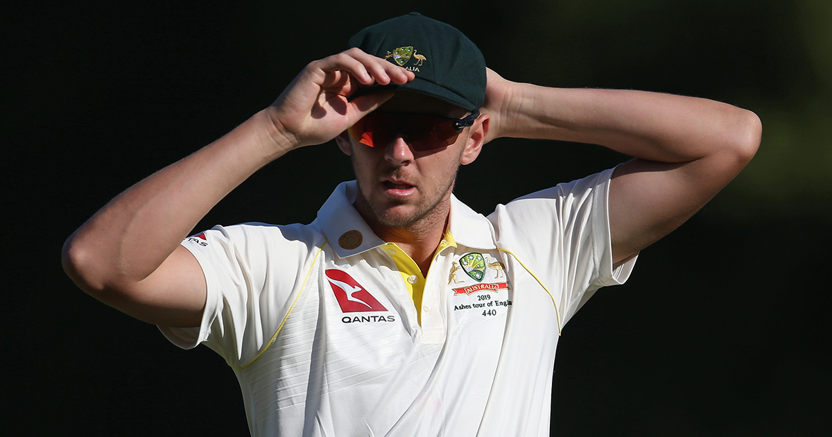 Josh Hazlewood during the recent Australia A game // Getty
