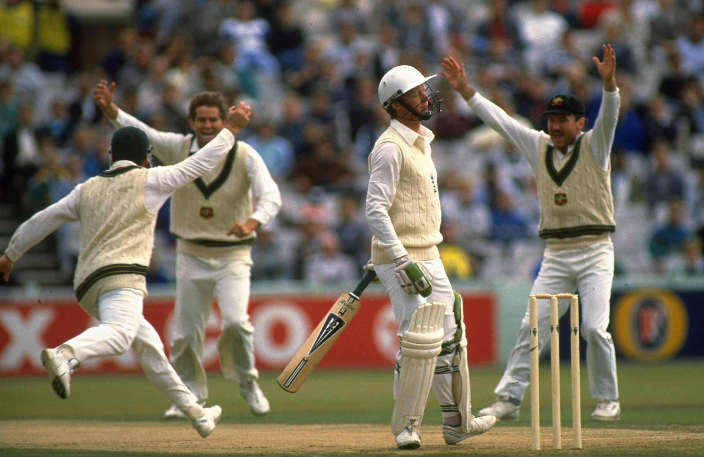 Australia celebrate another English wicket in 1989 // Getty