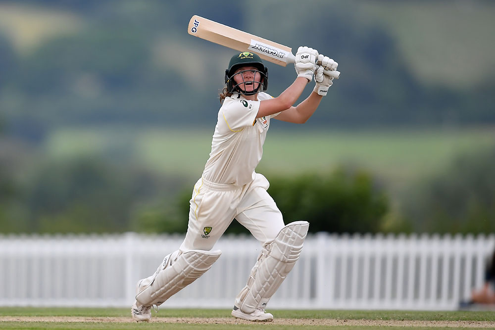 Maddy Darke in action during the Australia A tour of England \\ Getty