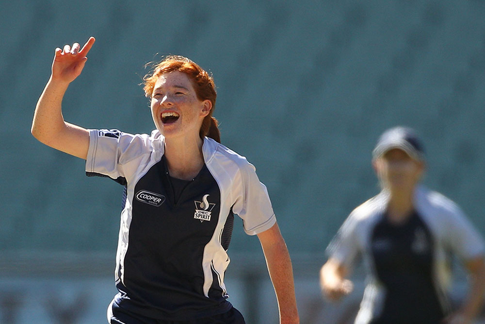 Kath Hempenstall in action for the Victoria Spirit in 2011 // Getty