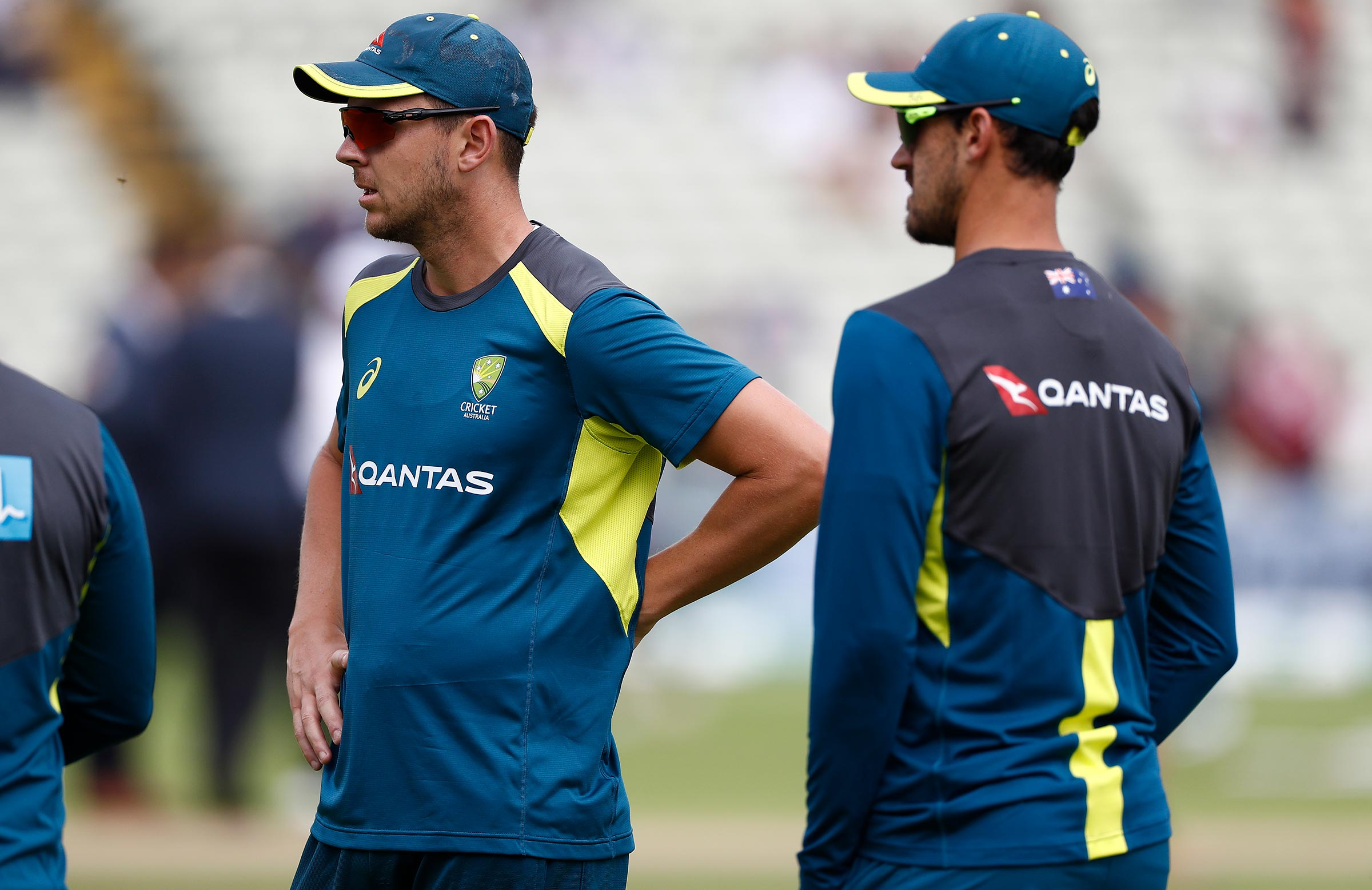 Hazlewood and Starc were left out of the first Test // Getty
