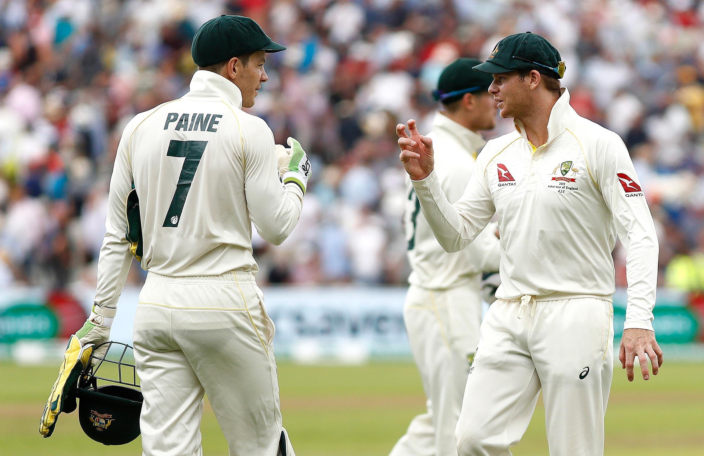 Paine and Smith talk tactics at Edgbaston // Getty