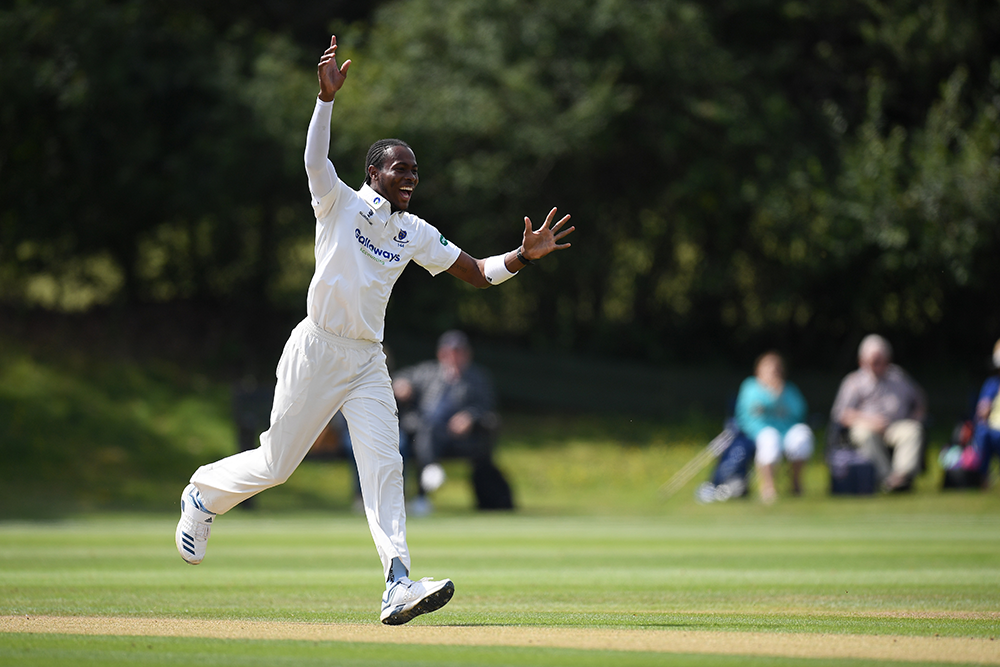 Archer celebrates a wicket for the Sussex second XI // Getty