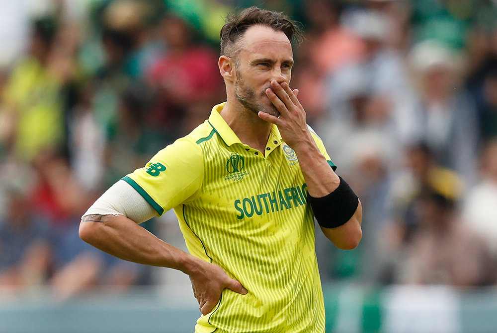 Faf du Plessis captained South Africa through the 2019 World Cup // Getty