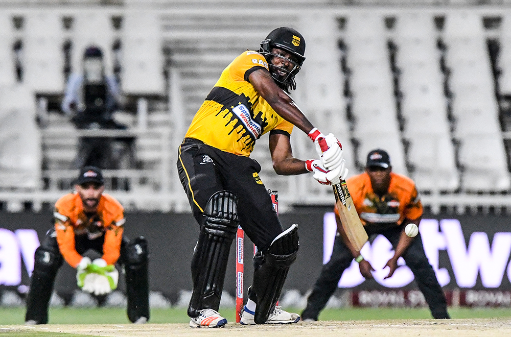 Chris Gayle bats for the Jozi Stars in the Mzansi Super League // Getty