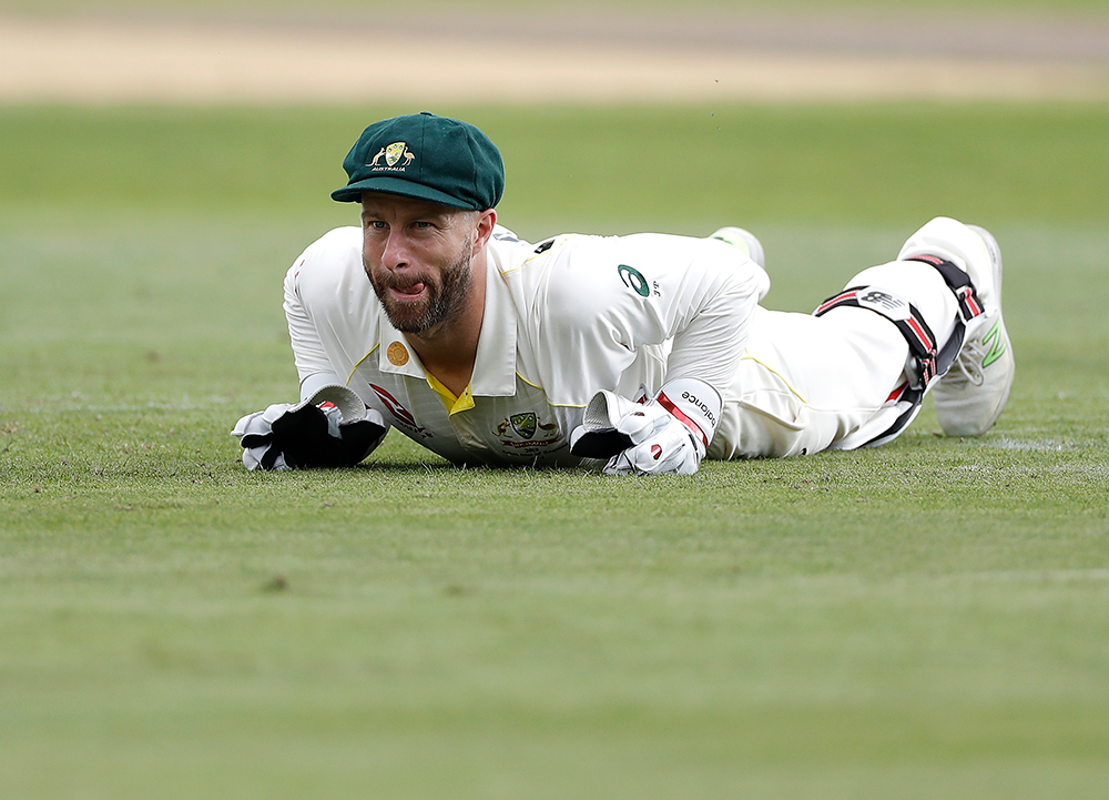 Matthew Wade took the gloves for Australia's tour game against Worcestershire // Getty