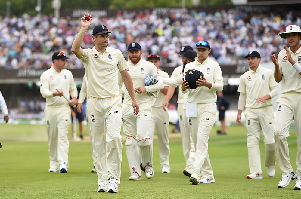 Woakes leads England off Lord's after his six-wicket haul against Ireland // Getty