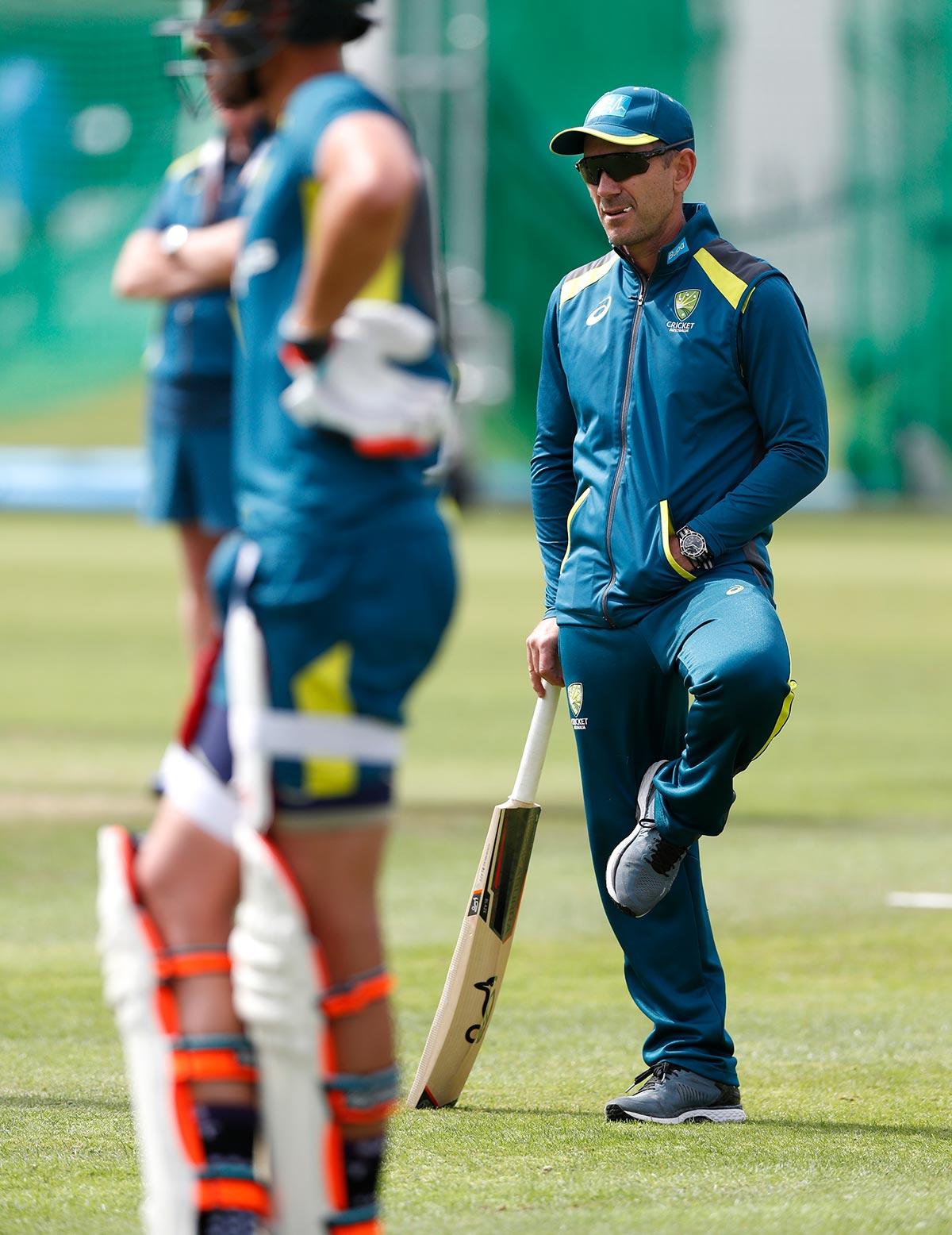 Langer at Australian training on Sunday // Getty