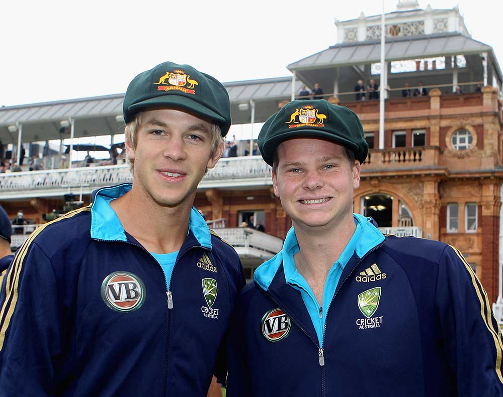 Tim Paine and Steve Smith debuted together // Getty