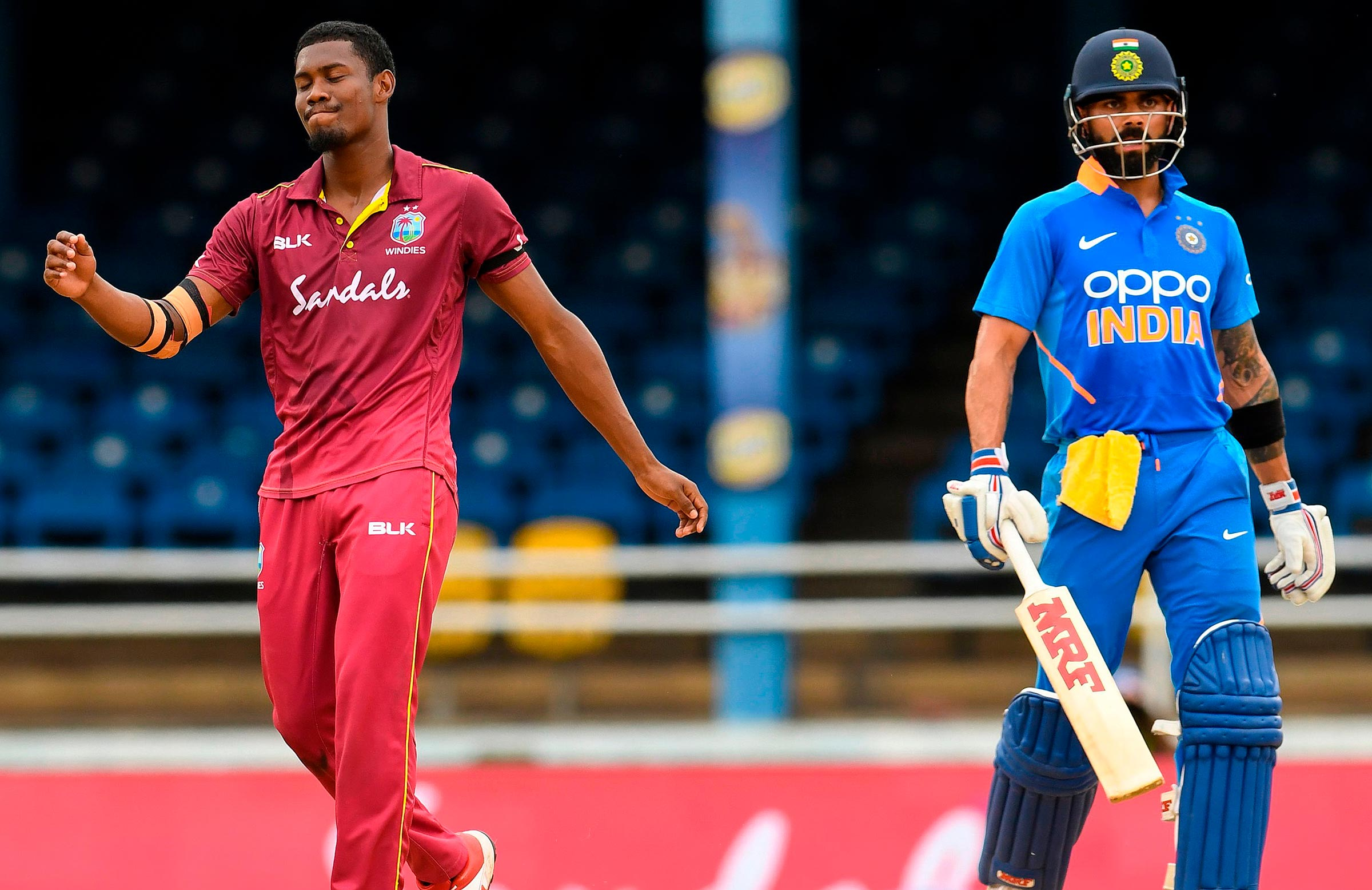 The West Indies let Kohli off the hook early in his innings // Getty